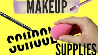 DIY Back to School Makeup School Supplies part 1 | pastella28