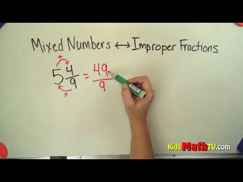 How to convert a mixed fraction to improper fraction video