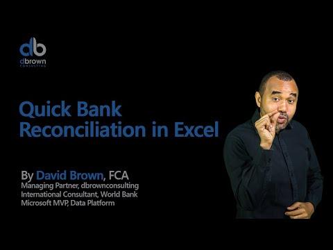 Excel tutorial: Quick Bank Reconciliation in Excel