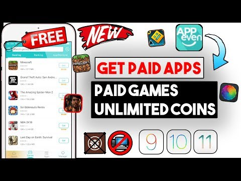 New Get AppEven & Paid Apps/Games & In App Purchases Free (NO JB/COMP)(iOS 11/10/9) iPhone/iPod/iPad