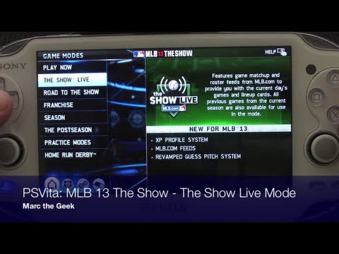 PSVita: MLB 13 The Show - The Show Live Mode (UPDATE READ)