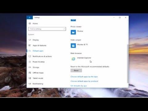How To Make Internet Explorer Default Browser In Windows 10