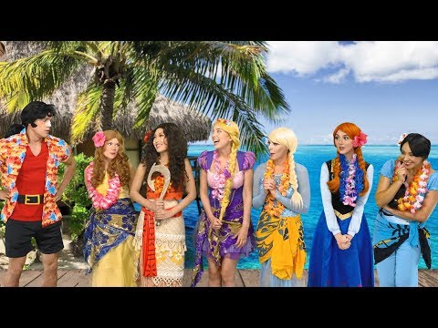 WHO WILL STOP GASTON? (Is It Belle, Elsa, Anna, Rapunzel, Moana or Jasmine) Totally TV Parody.