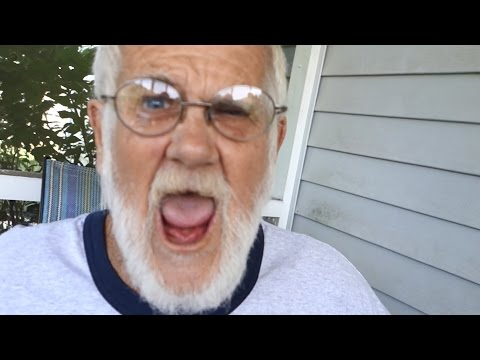 F*CKING WITH GRANDPA'S HEAD!!