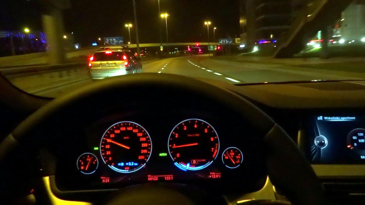 2016 2015 BMW 5 Series (F10) M 528i xDrive Night Test Drive Driving Fuel Consumption part 1