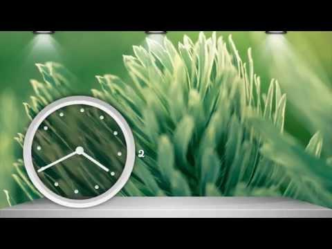 Android Transparent Clock Widget