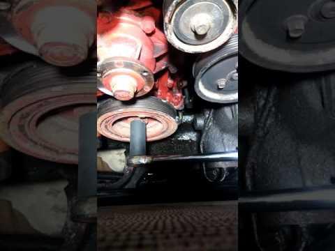 Remove crankshaft pulley using starter on 2003 Land Rover