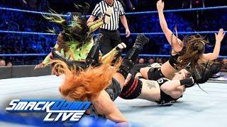 Charlotte Flair, Becky Lynch & Naomi vs. The Riott Squad: SmackDown LIVE, Feb. 20, 2018