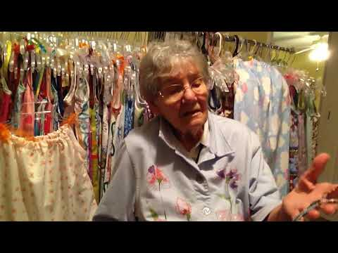 104 year old makes pillowcase dresses