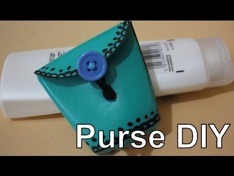 How to make a coin purse with a plastic bottle   Recycling a plastic bottle   Easy DIY Crafts