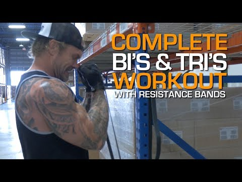 Complete Biceps & Triceps Workout with Resistance Bands