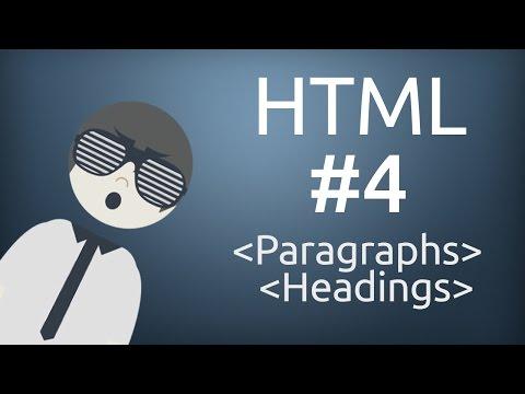 HTML For Beginner: Paragraphs & Headings