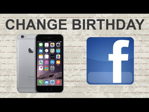 How to change birthday on Facebook mobile app