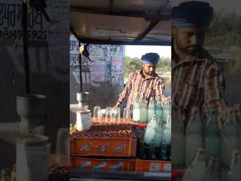 Funny soda seller in Punjab selling soda in different style in Punjab really amazing