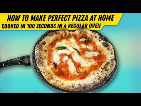 How to make a Neapolitan pizza and cook it in a standard oven in 90 seconds only [ENG]