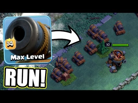 GEM TO MAX LEVEL! THEY ARE SO GOOD!! - Clash Of Clans - LEVEL 14 CANNON CARTS!