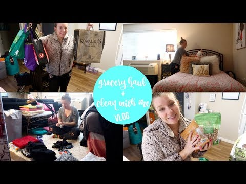 grocery haul + clean with me