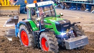 Incredible RC tractor at work on a field! Stunning detailed farming machine!