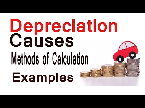 Depreciation Causes Method of Calculation Examples [Hindi]