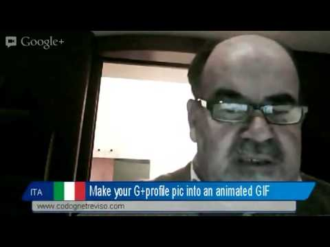 G+ profile photo.How to make it into an animated GIF
