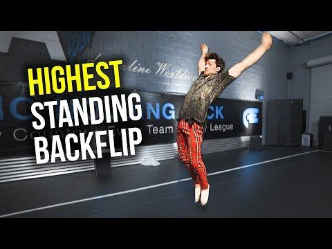 HIGHEST Standing Backflip Challenge!