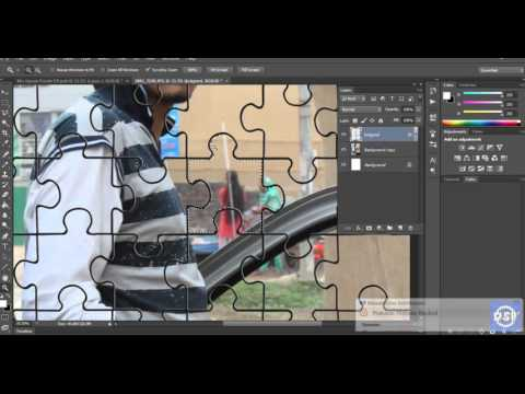 Transform Any Photo To Jigsaw Puzzle in Photoshop CS6 2015