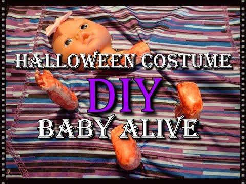 (DIY) Halloween costume - Baby Alive