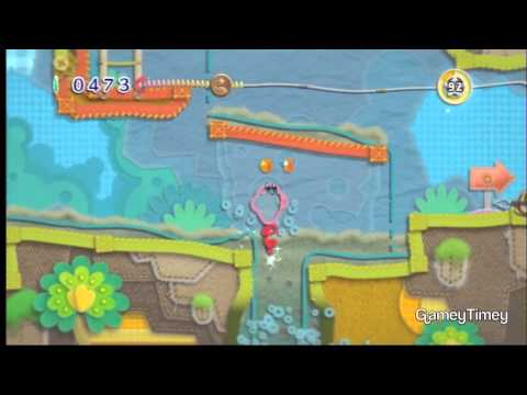 Kirby's Epic Yarn Rainbow Falls 100% Walkthrough