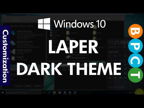 Windows 10 - Laper Dark Theme (November Update)