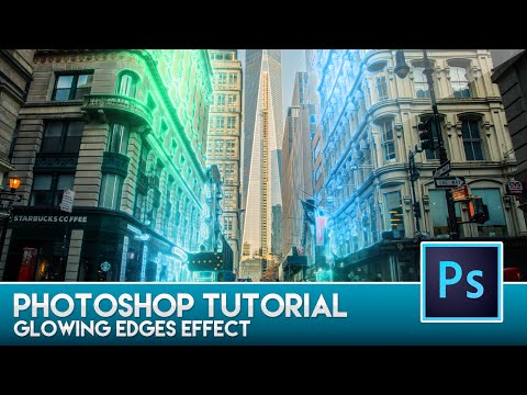 Photoshop Tutorial - Glowing Edges Effect