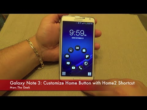 Galaxy Note 3: Customize Home Button with Home2 Shortcut