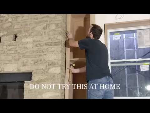 How to easily make wood fit against a stone fireplace (April fools)