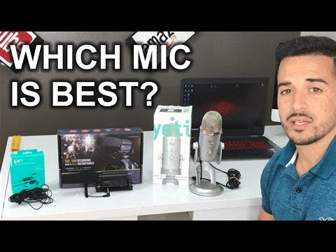 The Best Microphone for YouTube videos 2018