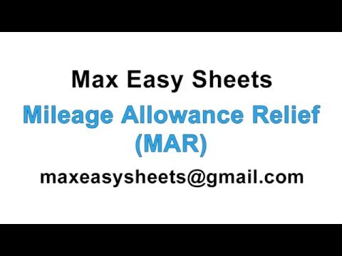 Mileage Allowance Relief Calculator Spreadsheet Tax Relief.