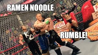 GTS WRESTLING: Steel Cage Royal Rumble! WWE Mattel Figure Matches ANIMATION PPV Event!