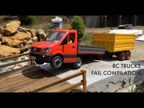 RC TRUCKS - FAIL COMPILATION * 1:10 - 1:14 SCALE * 4K