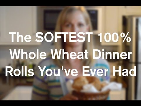 How To Make Softest 100% Whole Wheat Dinner Rolls You've Ever Had - AnOregonCottage.com