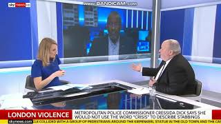 Sky News 7 4 18 Debate about police response to knife crime epidemic