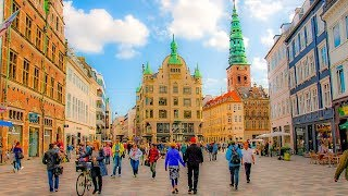 Download A Walk Up Stroget Street, Copenhagen, Denmark Video