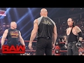 Brock Lesnar Goes Face to face With Goldberg And The Undertaker Raw Jan 23 2017