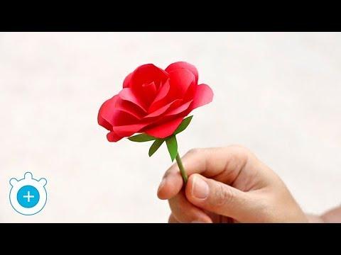 How to Make Paper Rose Flower - Easy!