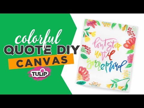 Fabric Marker Quote Art Canvas DIY