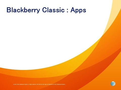 Blackberry Classic :  Apps