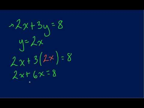 Solving Using Substitution Method