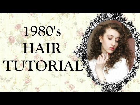1980's Hairstyle For Long Hair Tutorial