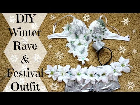 DIY Winter Wonderland New Years Rave Outfit | Decadence