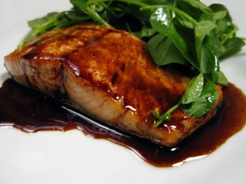 Brown sugar and bourbon glazed salmon