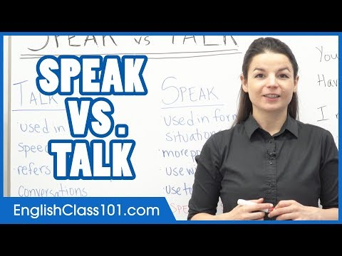 SPEAK vs TALK - What's the Difference? Learn English Grammar