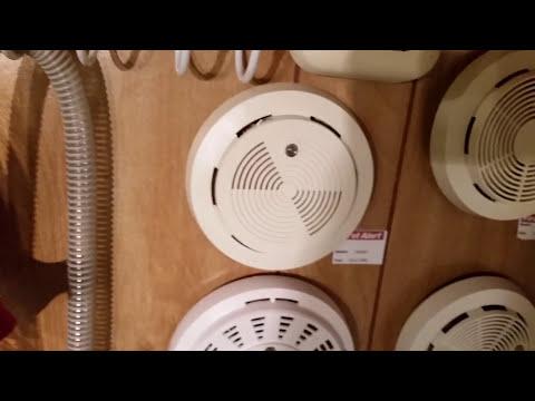 Vintage Smoke Detector Display Wall - Final Product