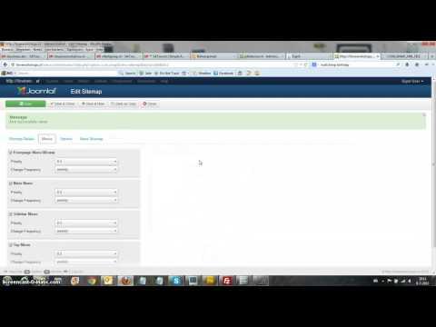 Joomla! Xmap menu's koppelen aan Sitemap
